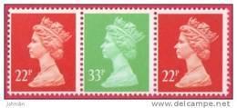 1991 GB Machin Strip From Booklet - 22p SG X1016 - 33p SG X1019 - 22p SG X1016 -  UM/MNH - 1952-.... (Elizabeth II)