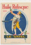 H 26 - ETIQUETTE  HUILE D'ARACHIDE     RUFISQUE     LE VATEL - Labels