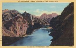 Nevada Colorado River Looking Downstream From Boulder Dam Curtei