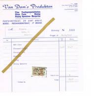 Sint-Kruis - Brugge: 1956; Van Dam's Produkten Fijne Voedingsspecialiteiten  Choco Paste - Honing ... - Belgique