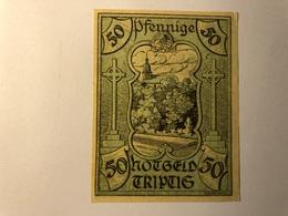 Allemagne Notgeld TrIptis 50 Pfennig - [ 3] 1918-1933 : Weimar Republic