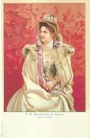 """1680 """" S.M. MARGUERITE DE SAVOIE - REINE D' ITALIE """" CART. POST.  ORIG. NON SPED. - Familles Royales"""