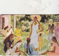 ATTENDANT DEVANT LE TEMPLE 1996 - Polynésie Française