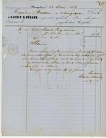Lozere Et Finistère - Ste Gaudin Et Herand De Clermont Freerand - 24 Et 25 Mai 1857 - 20 Ces Losange - TTB - 1849-1876: Période Classique