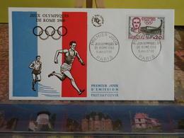 Jeux Olympiques De Rome 1960 - (75) Paris - 9.7.1960 - FDC 1er Jour Coté 7€ - FDC