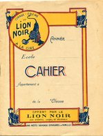 CAHIER LION NOIR - Buvards, Protège-cahiers Illustrés
