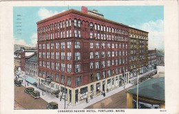 Maine Portland Congress Square Hotel 1944 Curteich - Portland