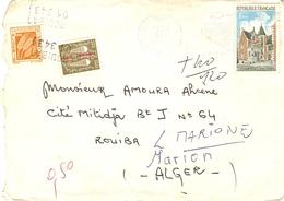 France 1975 - Lettre De France (St Denis) à Rouiba (Algérie) - Surtaxée YT TT 60/67 - France