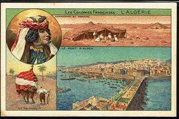 ALGERIE - Carte Postale Mutivues Les Colonies Françaises - L'Algérie. Carte Pub Les Chocolats Et Thé De La Cie Coloniale - Algérie