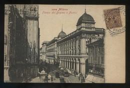 Milano. *Fianco Del Duomo E Portici* Circulada 1905. - Milano (Milan)