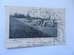 BRIENNE LE CHATEAU GRANDES MANOEUVRES DE L EST 1905  ARTILLERIE EN BATTERIE - France
