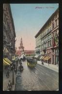 Milano. *Via Dante* Circulada 1916, Censura Militar. - Milano (Milan)