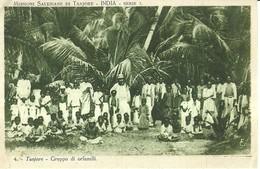 """1683 """" MISSIONI SALESIANE -INDIA-TANJORE - GRUPPO DI ORFANELLI """" CART. POST. ORIG. NON SPED. - Missioni"""