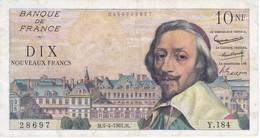 BILLETE DE FRANCIA DE 10 FRANCS DEL 6-4-1961 (BANKNOTE) RICHELIEU - 10 NF 1959-1963 ''Richelieu''