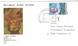 Autriche 1985 - First Flight Lufthansa - Salzburg - Frankfurt - Boeing 737 - YT1614 - Ascension En Ballon - Poste Aérienne