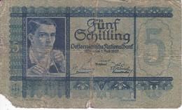 BILLETE DE AUSTRIA DE 5 SCHILLING DEL AÑO 1927 (BANKNOTE-BANK NOTE) - Austria