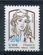 """France, Marianne By Ciappa & Kawena, 10c., Overprint """"2013-2018"""", 2018, MNH VF - 2013-... Marianne Of Ciappa-Kawena"""