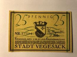 Allemagne Notgeld Vegesack 25 Pfennig - [ 3] 1918-1933 : Weimar Republic