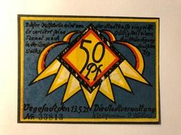 Allemagne Notgeld Vegesack 50 Pfennig - [ 3] 1918-1933 : Weimar Republic