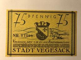 Allemagne Notgeld Vegesack 75 Pfennig - [ 3] 1918-1933 : Weimar Republic