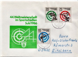 Postal History Cover: Germany / DDR Full Set On Cover - Shooting (Weapons)