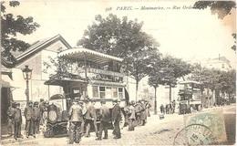 Dépt 75 - PARIS (18è Arr.) - Montmartre - Rue Ordener - Autobus BRILLIÉ Saint-Germain-des-Prés - Pl. Clichy - St-Lazare - Paris (18)