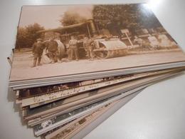 45, PUISEAUX - SUPERBE COLLECTION DE 63 PHOTOGRAPHIES DE CPA DE PUISEAUX, ANIMATIONS - Puiseaux
