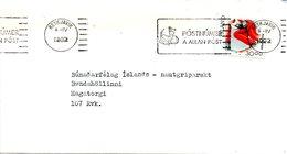 ISLANDE. N°714 De 1992 Sur Enveloppe Ayant Circulé. Ski. - Skiing