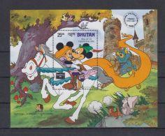D565. Bhutan - MNH - Cartoons - Disney's - Cartoon Characters - Overprint - Disney