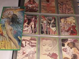 Milo Manara Art & Artists Set #6 Moviens Fantasi Gold Serie 49 Di 250 Set Comleto 21 Card - Books, Magazines, Comics
