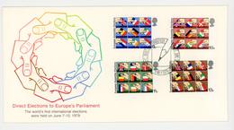 5 Lettres 1er Jour - 1979 - Direct Elections Parlement Européen - Neuf - - 1952-.... (Elizabeth II)