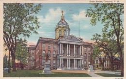 New Hampshire Concord State House 1949 Curteich - Concord
