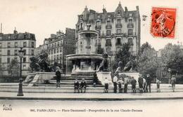 CPA 75 Paris Place Daumesnil Perspective Rue Claude Decaen - France