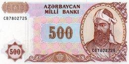 AZERBAIGIAN  500 MANAT 1993 P-19  UNC - Azerbaïjan