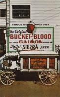 """Nevada Virginia City Bucket Of Blood Saloon With Hearse """"Dead Wa"""