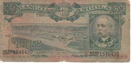 BILLETE DE ANGOLA DE 50 ESCUDOS DEL AÑO 1956 (BANKNOTE) - Angola