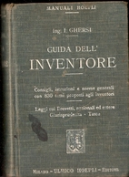 MANUALE HOEPLI - I. GHERSI - GUIDA DELL'INVENTORRE - Arte, Architettura