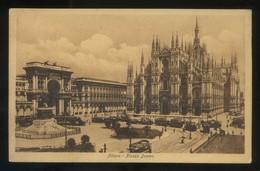 Milano. *Piazza Duomo* Ed. M. Abramo. Escrita. - Milano (Milan)