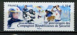 FRANCE 2014 / YT 4922 COMPAGNIES REPUBLICAINES DE SECURITE  Neuf** - France