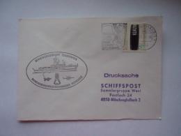 Deutsche Bundespost Enveloppe Cachet De Bateau Marine Schiffstempel  1980 Minenjagdboot Cuxhaven - [7] Federal Republic