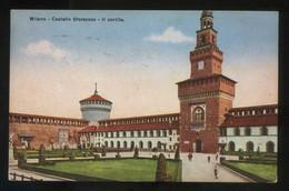 Milano. *Castello Sforzesco. Il Cortile* Ed. C.C.M. Nº 14. Nueva. - Milano (Milan)