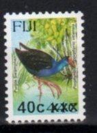 FIJI, MNH, BIRDS, OVERPRINTS, 40c ON 44c - Oiseaux