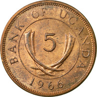 Monnaie, Uganda, 5 Cents, 1966, TTB, Bronze, KM:1 - Ouganda