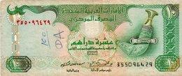 EMIRATI ARABI UNITI-10 DIRHAMS 1995 P-13 VF(piccola Scritta) - Emirats Arabes Unis
