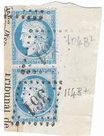 TIMBRES N°60/1  ;PAIRE VERTICALE  104/114 B2  ;  TRÉS BIEN CENTRÉS ;TTB - 1871-1875 Cérès