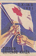 Yugoslavia Label Stamp Red Cross Week , Rotes Kreuz 1951 - Liefdadigheid