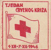 Yugoslavia Label Stamp Red Cross Week , Rotes Kreuz 1946 - Liefdadigheid