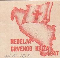 Yugoslavia Label Stamp Red Cross Week , Rotes Kreuz 1947 - Liefdadigheid