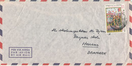 Pakistan Air Mail Cover Sent To Denmark 16-10-1969 Single Franked - Pakistan