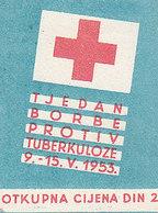 Yugoslavia Label Stamp Red Cross TBC Tuberculosis Fight 1953 - Liefdadigheid